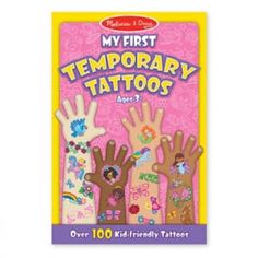 My First Temporary Tattoos are wearable art for kids. Their bright colors, amazing details and kid-friendly themes look great on all skin tones. In addition, they are so easy to use, just press them on and peel them off. Over 100 Kid-Friendly Tat Best Temporary Tattoos, Pink Games, Rainbow Fairies, 100 Tattoo, Scratch Art, Thing 1, Tattoo Kits, Tattoo Ideas, Melissa & Doug