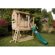 Outdoor Living Today Little Squirt Playhouse with Sandbox You'll Love | Wayfair