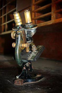 Old Medical laboratory microscope