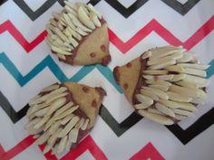 Hedgehog Cookies Hedgehog Cookies, Christmas Cookies, Sweet Tooth, Mexican, Cheese, Cake, Ethnic Recipes, Food, Xmas Cookies