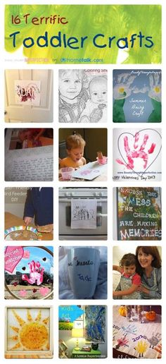 16 Terrific Toddler Crafts! These look so fun!