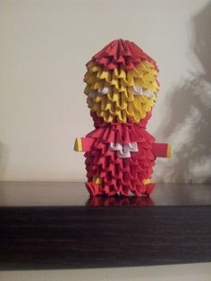 ORIGAMI 3D. Iron-man piezas de 6x4 cnts.