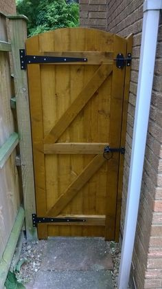 Give a Luxurious Look to your Garden with Wooden garden gates wooden garden gate. Give a Luxurious Look to your Garden with Wooden garden gates wooden garden gates full e timber products regar Building A Wooden Gate, Wooden Garden Gate, Wooden Gates, Backyard Gates, Garden Gates And Fencing, Garden Doors, Wooden Gate Designs, Diy Gate, Fence Gate Design