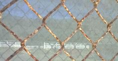 Window Chain Link with Reflection Rust and Reflections Layers, Miscellany, Reflection  #DailyGratitude, #DailyMeditation, #gratitude, #nofilter, Anne Strasser Blog,  Chain Link, Daily Surprise, Meditation, Montara CA, Nokia Lumia 822, Photography, Rust