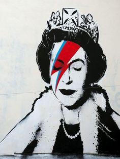 Queens Jubilee Ziggy Stardust Tribute, By Mr. Brainwash.