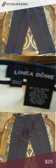 🌷SALE🌷Linea Dome mens pants 36x30 Linea Dome mens pants 36x30 pinstriped 99%polyester 1% rayon linea Pants Dress