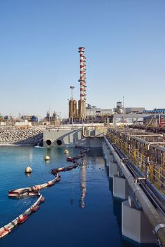 Dubai desalination plant. Only about 9 percent of the total original intake becomes potable water (or goes to generate electricity). The rest—now with a higher salinity—gets pumped back into the Persian Gulf.