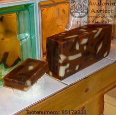 Osmia's handmade Tar-Menthol soap / Osmian käsinvalmistettu Terva-Mentolisaippua. Handmade Soaps, Pudding, Desserts, Food, Meal, Custard Pudding, Deserts, Essen, Hoods