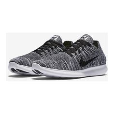 Nike Free RN Flyknit Women's Running Shoe. Nike.com ($130) ❤ liked on Polyvore featuring shoes, athletic shoes, flyknit shoes, nike, nike footwear, running shoes and nike shoes
