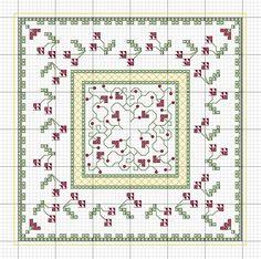 Christmas Biscornu - Cross Stitch Patterns from Just Nan