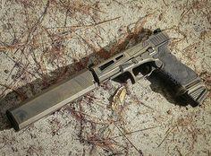 WEBSTA @ daily_badass - Via: @gunpointmfgSpartan Battleworn Cerakote on the ZevTech Glock