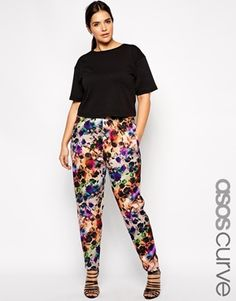 Enlarge ASOS CURVE Exclusive Peg Pant in Photographic Floral