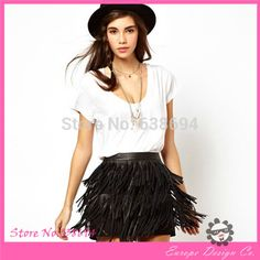 Find More Skirts Information about Womens Sexy Pu Skirt With Three Levels Patchwork and Tassel Decoration For Wholesale Freevshipping Little Black Vestidos Borlas,High Quality skirt gothic,China skirt fashion Suppliers, Cheap skirt white from Europe Design Co.-latin on Aliexpress.com