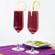 Welch's Concord Grape Fizz mocktail