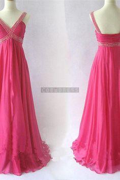 Chiffon Beading Elegant Homecoming Dress , New Prom Dress