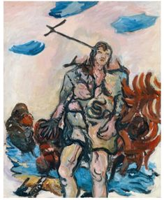 From Städel Museum, Georg Baselitz, The Shepherd Oil on canvas, 162 × 130 cm Bad Painting, Figure Painting, Painting & Drawing, Max Ernst, Great Paintings, Beautiful Paintings, Exhibition Film, Städel Museum, Hans Thoma