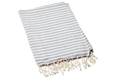 Turkish T - Beach Candy Towel, Gray Modern Coastal, Coastal Decor, Jeff Andrews Design, Beach Candy, After Christmas Sales, Bed Rug, Amber Interiors, Striped Rug
