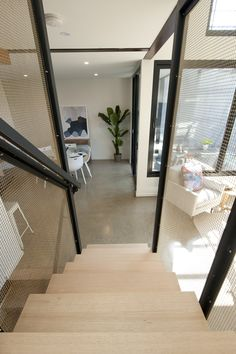 Steel Centre Carriage | Feature | Stair | Industrial | Modern | Style | Architecture | Design | Victorian Ash | Home | Mesh | Brass | Screens