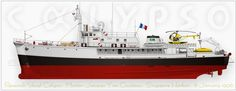 RV Calypso, the Research Vessel of the Cousteau Society ♥ Art Print and Some History ♥