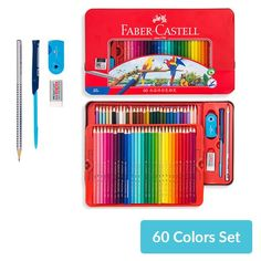 Tin Boxes, Wood Boxes, Water Brush Pen, Pencil Eraser, Watercolor Pencils, Mechanical Pencils, Faber Castell, Writing Instruments, Colored Pencils
