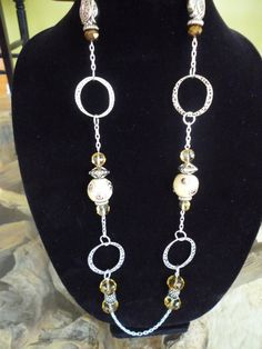 Jeweled Ring and Chain Necklace by ElliTs on Etsy