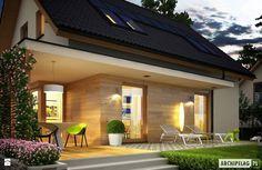 Projekt domu Lilia ECONOMIC - zbliżenie na taras - zdjęcie od Pracownia Projektowa ARCHIPELAG - Domy - Styl Minimalistyczny - Pracownia Projektowa ARCHIPELAG