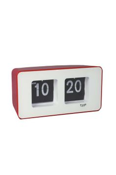 flip clock CHILLI RED