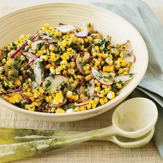Raw Corn and Radish Salad with Spicy Lime Dressing | Food & Wine