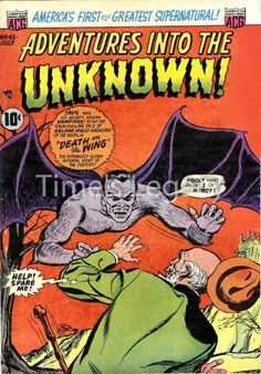 Adventures Into The Unknown July 1953 Vintage Reproduction Horror Comic Cover  £4.75