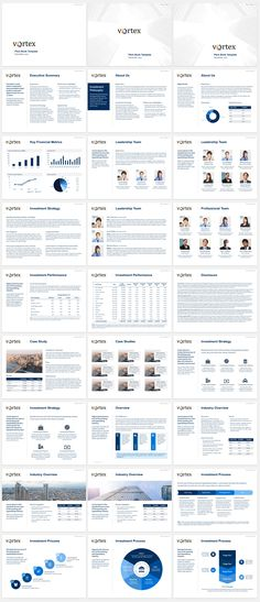 Clean vision company presentation template with 5 premium for Agency pitch template