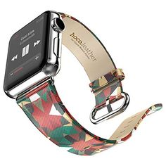 Apple Watch Band, Topxin 38mm Genuine Leather Strap Wrist Band Replacement w/ Metal Clasp for Apple Watch All Models 38mm (Kaleidoscope) Topxin http://www.amazon.com/dp/B013YOD8PM/ref=cm_sw_r_pi_dp_Yw-Zvb1385V5W