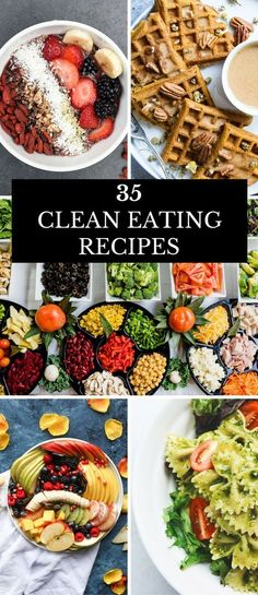 35 Clean Eating Recipes For Beginners Clean Eating is a healthy way to achieve your weight loss goals, but like most diets, you need a plan. Here's a few of my favorite tips and quick prep clean eating meals that are easy to make! Whether you're looki Clean Eating Recipes For Weight Loss, Clean Eating For Beginners, Weight Loss Meals, Recipes For Beginners, Clean Recipes, Clean Foods, Clean Meals, Clean Eating Dinner Recipes, Fast Meals