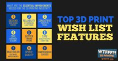 """The 3D print wish list features we want are largely different than the 3D print wish list that YouMagine put out. Looking at some """"complaints"""" a little more in-depth on supposed issues such as filament, build plate size, lack of models, and other 3D print concerns. Our 3D print wish list focuses on the 3D print industry as a whole and issues that need to be addressed to push it further."""