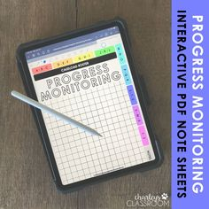 Ditch the paper and large binders! Record student progress monitoring using your tablet. This interactive PDF is simple to use and clears up a TON of desk space! Student Data Collection, Data Collection Sheets, Student Info Sheet, Student Information, Best Notes App, Good Notes, Iep Meetings, Progress Monitoring, Preschool Special Education