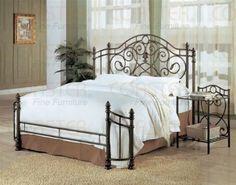 Amazon.com: Queen Size Antique Gold Finish Metal Bed Headboard & Footboard: Furniture & Decor