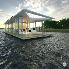 Het Paviljoen   Gelukkig op het water