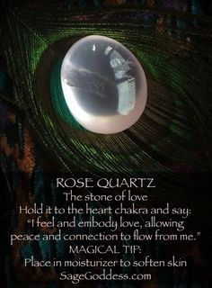 The magic of Rose Quartz! Crystal healing for better living. #crystalhealing