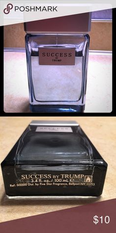 Success by Trump Cologne Donal Trump Success cologne. You can see amount remaining. Has a nice fragrance, especially after mellowing out after initial spray. Other