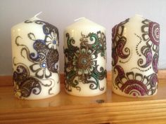 Henna/ Mehndi candles customised! Available to order!