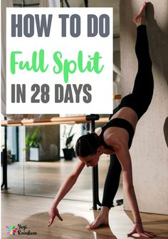 Splits Stretches For Beginners, Stretches For Flexibility, Flexibility Workout, Yoga For Beginners, Stretching, Splits Challenge, Flexibility Challenge, Workout Splits, Kickboxing Workout