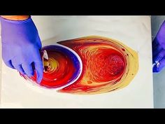 Tilted Tree Ring Swirl Pour Technique for Fluid Art Paint Pouring - YouTube