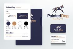 We personified the brand with Painted Dog works in the consulting as well as oil and gas industry. This brand both aligns with the standards and look of current industry giants as well as shows the identity of the business owner in a personalized way. #logo #branding #marketing #calgary #canada