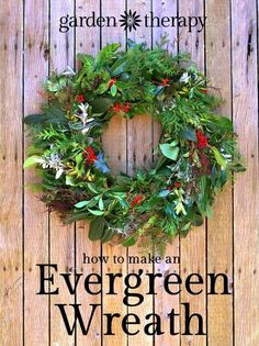 It's pretty easy to make an evergreen wreath. Check out the full DIY here.