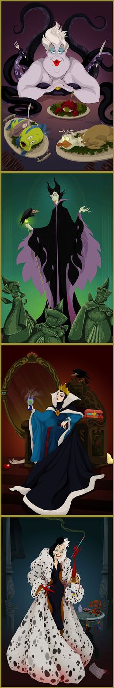 US-based artist Justin Turrentine has created a series of portraits that reimagines the ending of several Disney films