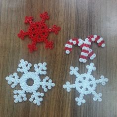 Christmas ornaments hama beads by ssdesignbutikshop