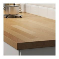 IKEA - KARLBY, Worktop, 186x3.8 cm, , 25 year guarantee. Read about the terms in the guarantee brochure.Worktop with a top layer of solid wood, a hardwearing natural material that can be sanded and surface treated when required.KARLBY worktop can be sanded, and has the same look and feel as solid wood, but only needs to be treated with oil every now and then.You make a good environmental choice by choosing KARLBY worktop because the method of using a top layer of solid wood on particleboard…