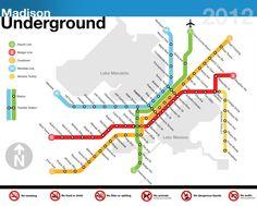 subway map of madison.