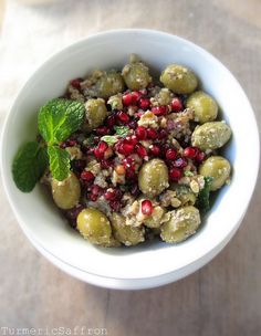 Zeytoon Parvardeh-Persian Olive, Pomegranate and Walnut Salad