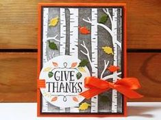 Peanuts and Peppers Papercrafting: Make It Monday - Stampin' Up! Woodland Embossing Folder Fall Card (Dust Off Your Brayer!)