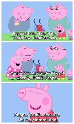 17 Times Peppa Pig Was Just An Absolute Savage When she couldn't bear to listen her Dad and Uncle's conversation because it wasn't interesting enough for her. 17 Times Peppa Pig Was Just An Absolute Savage Peppa Pig Funny, Peppa Pig Memes, Funny Iphone Wallpaper, Funny Wallpapers, Homescreen Wallpaper, Peppa Pig Pictures, Savage, Peppa Pig Wallpaper, Edc